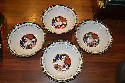 "Lot of (4) A Christmas Story Susan Winget 9 1/2"" Large Serving Bowls"
