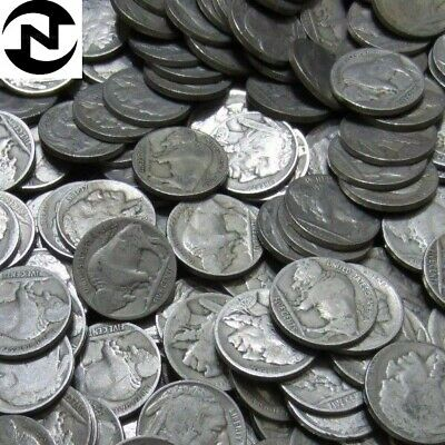 (20) 1920-1929 Mixed Buffalo Nickel Lot // FULL DATE! // 1/2 Roll - 20 Coins
