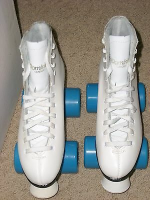Beautiful! DOMINION Leather RollerSkates Ladies 5 White-Made in Canada !!!NEW!!!