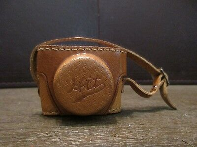 Vintage HIT Mini Miniature Spy Camera with Leather Snap Case - Made in Japan