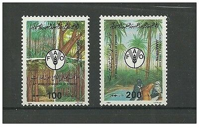 1984- Libya- The World Forest Congress FAO- 2 Stamps complete set MNH**
