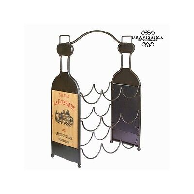 Porte-bouteilles 9 bouteilles - Collection Art & Metal by Bravissima Kitchen - N