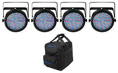 (4) CHAUVET SLIMPAR64 Slim Par Cans + Chauvet DJ CHS-25 Lighting Bag