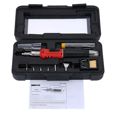 HS-1115K Professional Butane Gas Soldering Iron Kit Welding Kit Torch 14Q4