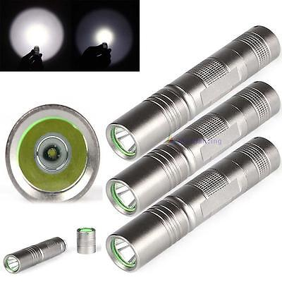 3pcs CREE Q5 2000 Lumens Silver 18650 LED Chasse Camping torche Penlight HOT DC