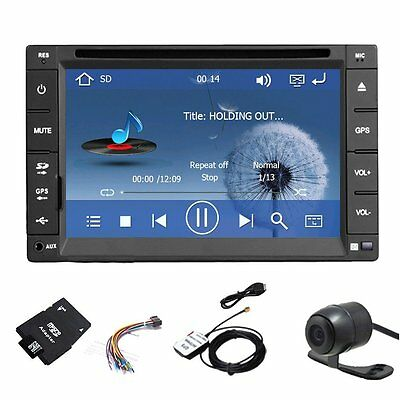Autoradio Gps Navegación Bluetooth Dvd Usb Sd Mp3 Doble 2 Din Radio De Coche+Cam
