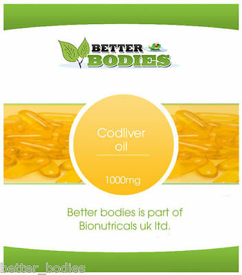 High Strength Cod Liver Oil 1000mg 365 Capsules Better Bodies