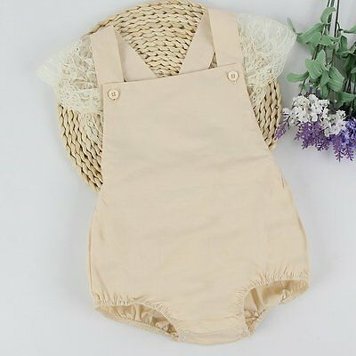 Newborn Infant Baby Jumpsuit Bodysuit Romper Toddler Girls Clothes Outfits 0-18M