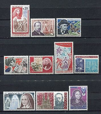 s12440) MONACO MNH** 1973, All complete sets 10v