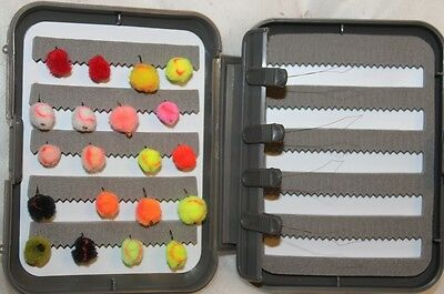 20 Egg Fly selection mixed colours in a FREE FLY BOX FREE POSTAGE