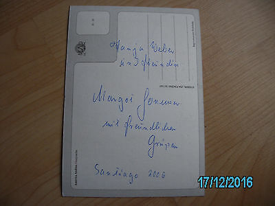 Margot Honecker #4   Postkartengrüße aus Santiago in Chile von 2006.