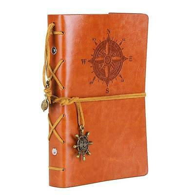 Notebook Leather Cover Vintage Retro Diary 7x5'' Journal Blank String classic