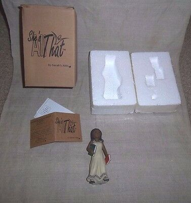 African American Black Girl Figurine Sarah's Attic She's All That She Grows MIB