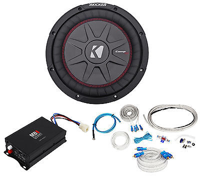 "MB QUART NA1-400.1 400w RMS Mono Marine Boat Amplifier+Kicker 10"" Sub+Amp Kit"
