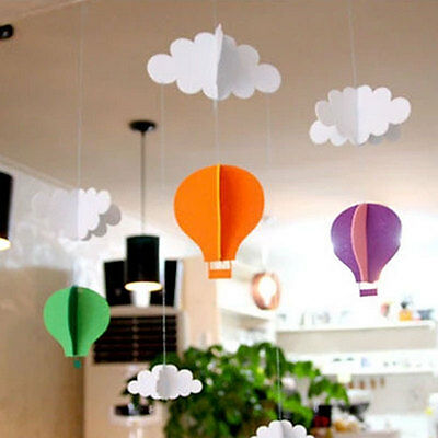 1 Set Cloud Balloon DIY Felt Ornaments Party Home Decoration Garland Streamer