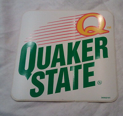 """NOS """"Q"""" Quaker State Motor Oil Door Man Cave Decal Gas Service Station Sticker"""