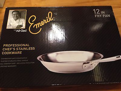 NEW Emeril by All-Clad Chef's Stainless Steel Fry Pan 12-Inch Cookware 12 IN