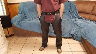 """Collectible - Men's Genuine Harley Davidson Leather Chaps  (W:29/37""""   L:30"""")"""