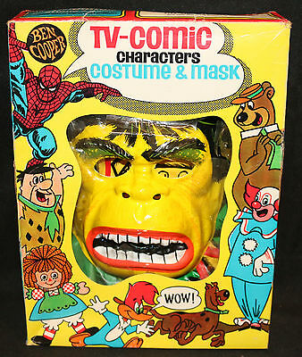 Ben Cooper TV-Comic Characters Costume & Mask - The Hulk - Vintage - 1974