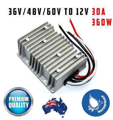 36V/48V/60V to 12V DC Converter 30A Waterproof Volt Reducer 360W Golf Cart Solar