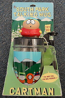 "South Park Talking Mug Cartman ""i'm Not Fat I'm Big-Boned"" New R11736"