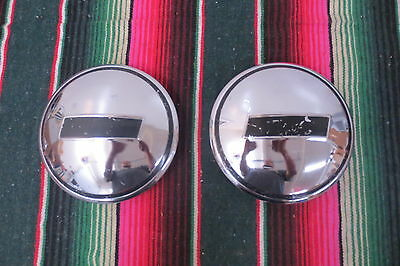 1930's Plymouth Dog Dish Hubcaps Center Caps Repo Pair