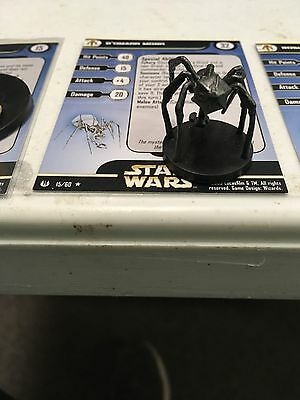 Star Wars Miniatures B'omarr Monk 15/60 With Card Free Shipping