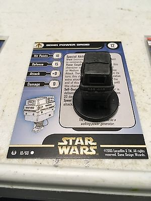 Star Wars Miniatures Gonk Power Droid 18/60 With Card Free Shipping