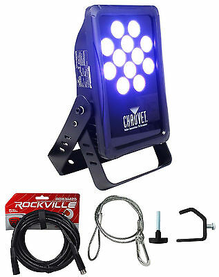 Chauvet DJ SlimPANEL Tri-12 IP Indoor/Oudoor TriColor Wash Light+DMX Cable+Clamp