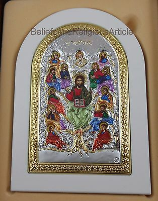 Tree of Life 950 Sterling Silver Gold Jesus Icon Religious Gift Original Prince