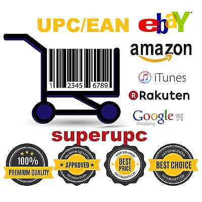 250 UPC EAN Numbers Barcodes Bar Code Number ebay Amazon Lifetime Guarantee