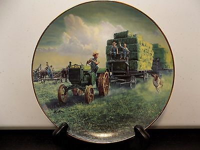 Danbury Mint THE HAY RIDE Farmland Memories Collector Plate