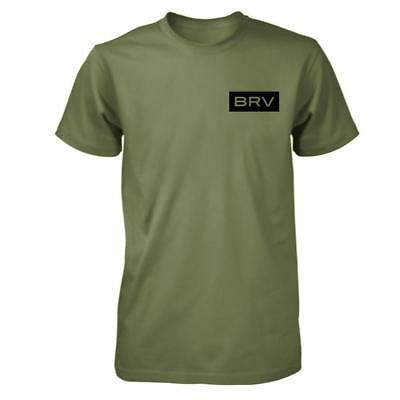 New The Brave Men's BRV Shirt - Khaki Green from The WOD Life