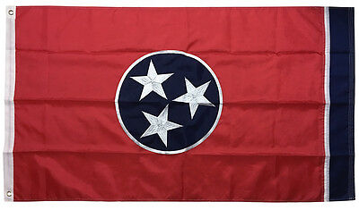 3x5 Ft TENNESSEE Flag Embroidered Nylon State Flag Sewn Deluxe