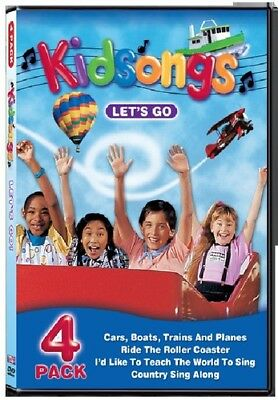 KIDSONGS LET'S GO Music Video Stories 4 DVD Set 2003 Ages 1