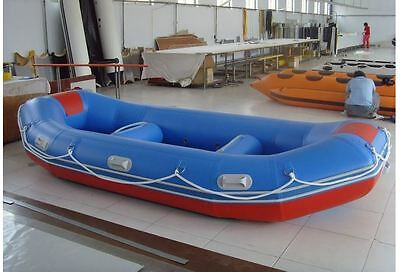 Whitewater Raft Inflatable Camping Fishing Outdoor Adventure River Kayak Boat