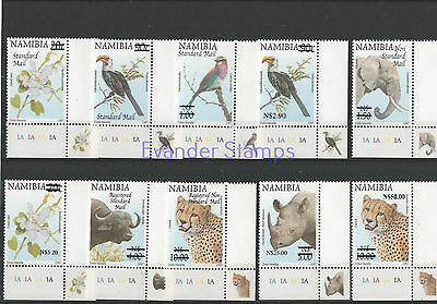 Namibia 2005 Flora and Fauna Stamps of 1997 Surcharged. MNH B2
