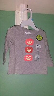 OSHKOSH BABY 6 mo glow in the dark Halloween shirt