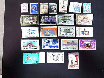 Thailand Late 60's & Early 70's Issues, All Complete Very Fine Mint Nh Sets