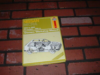 Haynes Manual For Nissan Micra K10. 1983 To 1986.