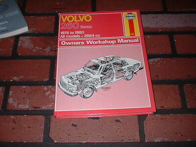 Haynes Manual For Volvo 260 Series Models. 1975 To 1980.