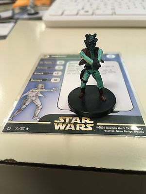 Star Wars Miniatures Greedo 55/60 With Card Free Shipping