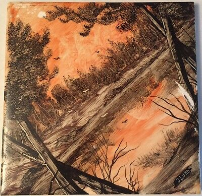 Hand painted Landscape Tile Signed by J LORD