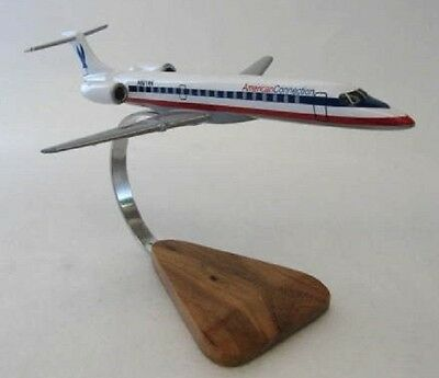 Embraer EMB-145 ERJ-145 American Connection Airlines Airplane Desktop Wood Model