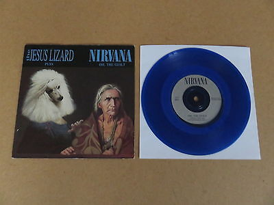 "NIRVANA Oh The Guilt JESUS LIZARD Puss TOUCH AND GO 7"" VERY RARE 1993 BLUE VINYL"
