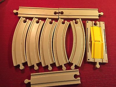 9 Pcs Keenway Plastic Train Track Curved Straight Bridge As IS