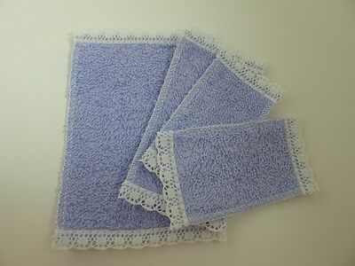 Dolls House Emporium Miniature 1:12 Scale Bathroom Lavender Towel Set (6774)