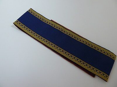 Dolls House Emporium Miniature 1:12 Scale Navy and Gold Edge Stair Carpet (6658)