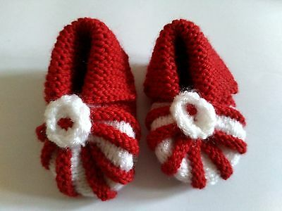 Handmade knitted baby shoes wool perfect gift