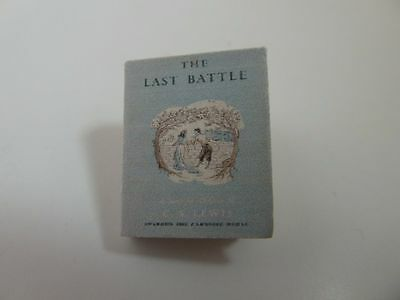 Dolls House Miniature 1:12 Scale Library Printed The Last Battle Book